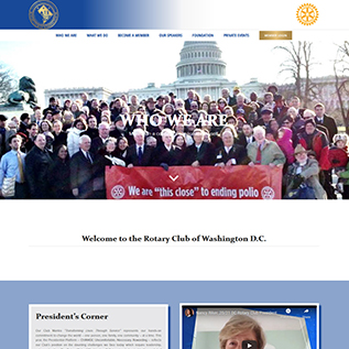 Rotary Club of Washington DC Website Homepage