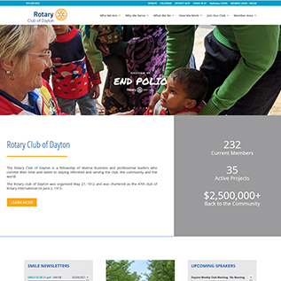 Rotary Club of Dayton Ohio Website Homepage